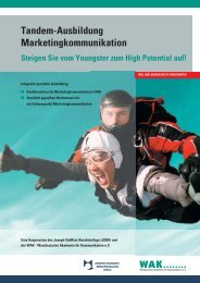 Tandem-Ausbildung Marketingkommunikation - WAK Westdeutsche ...