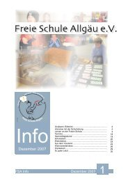 Info Nr. 1 Dezember 2007 Webfassung - Freie Schule Allgäu