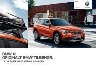 Originalt BMW tilbehør til BMW X1 - BMW Danmark