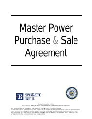 Master Power Purchase & Sale Agreement - Edison Electric Institute