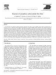 Structure of amorphous carbon-nitride thin films - Nanotechnology.hu