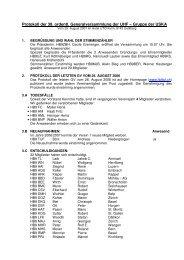 Protokoll 38. GV / 2007 - UHF-Gruppe der USKA