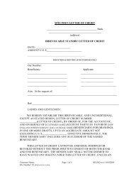 specimen letter of credit - National Grid
