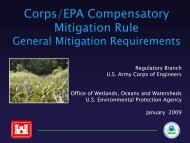 Corps/EPA Compensatory Mitigation Rule - Water - US ...