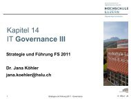 Kapitel 15 IT Governance II - User Websites on enterpriselab.ch
