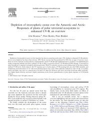 Depletion of stratospheric ozone over the Antarctic and Arctic ...
