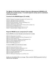 Course List - Masters of Information Security at Concordia