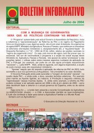 Boletim Informativo Julho de 2004 - CNA