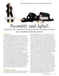 Twombly and Iqbal: - Bradley Arant Boult Cummings LLP