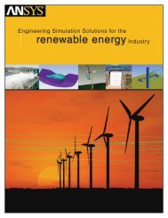 Engineering Simulation Solutions for the Renewable Energy Industry