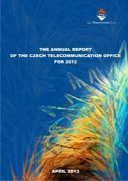 Annual Report of the CTU for 2012 - Czech Telecommunication Office