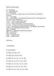 Muster Anmerkungen: M = Masche(n) re = rechte Masche li = linke ...