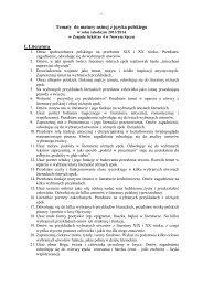 Tematy do matury ustnej z języka polskiego I ... - Zespół Szkół nr 4