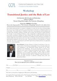 Workshop Transitional Justice and the Rule of Law - Faculty of Law ...