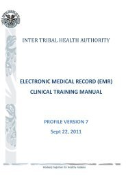 (emr) clinical training manual - Inter Tribal Health Authority