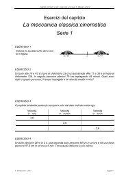Esercizi del capitolo ''Cinematica' - ZyXEL NSA210 - Liceo di Lugano 2