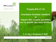 Inventaire forestier amélioré et impact des coupes partielles sur la ...