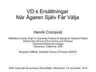 Henrik Cronqvists presentation 702.7 KB pdf - SNS