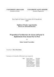 Proposition d'architecture de réseau actif pour le déploiement d'un ...