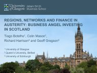 business angel investing in scotland - Regional Studies Association