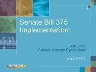 Senate Bill 375 Implementation: