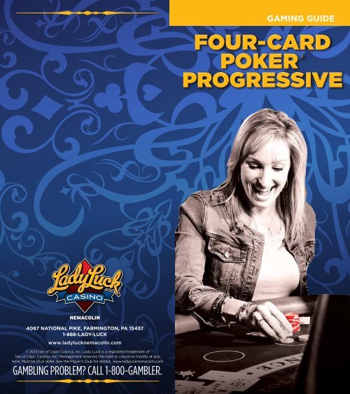 Four Card Poker Gaming Guide - Lady Luck Casino Nemacolin