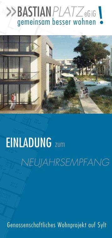 Download: Flyer zum Neujahrsempfang - Bastianplatz