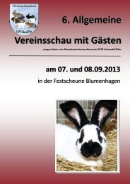 6. Vereinsschau des RKZV D592 Schwedt/Oder (PDF) - 1Blu