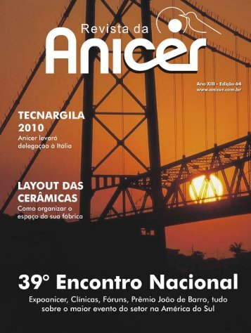 Faça o download do pdf da Revista 64 aqui - Anicer