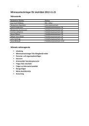 Minnesanteckningar från 2012-11-21