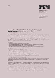 energisk rådgiVningsVirksomhed søger praktikant til efteråret 2013