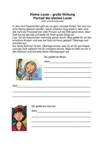 Unterrichtsmaterial Kleine Leute - Lesefuchs Online