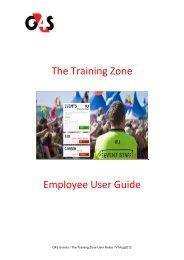The Training Zone - G4slearningonline.com - G4S