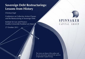 Sovereign Debt Restructurings: Lessons from History