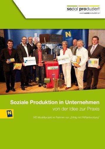 Soziale Produktion in Unternehmen - von der ... - Sozial-Produziert