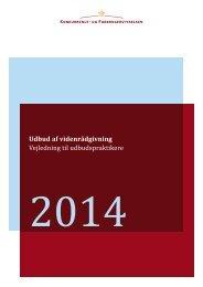 20141216 Vejledning om udbud af videnraadgivning