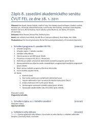 Zápis 8. zasedání akademického senátu ČVUT FEL ze dne 28. 1 ...
