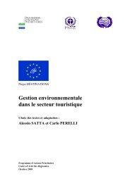 Gestion environnementale dans le secteur touristique - Project ...