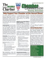 Monthly Newsletter - Belleville Chamber of Commerce