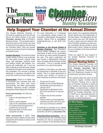 Monthly Newsletter - Belleville Chamber of Commerce