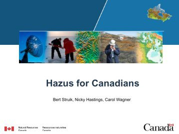Presentation by Natural Resources Canada Group - USEHAZUS
