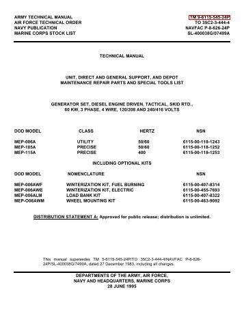 army technical manual tm 9-6115-545-24p air force ... - Igor Chudov