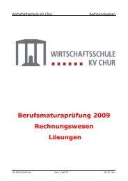 2009 M RW Loes - Wirtschaftsschule KV Chur