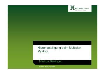 Nierenbeteíligung beim multiplen Myelom - Tumorzentrum Berlin-Buch