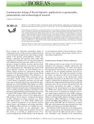 Luminescence dating of fluvial deposits: applications to geomorphic ...