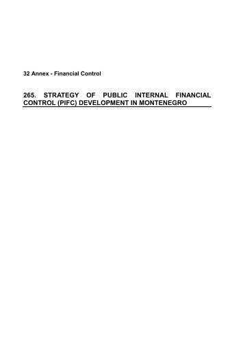265. strategy of public internal financial control (pifc) development in ...