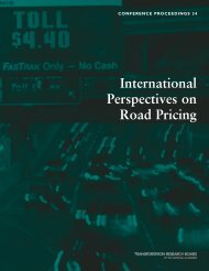 International Perspectives on Road Pricing - FHWA Operations ...