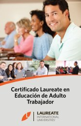 Certificado Laureate en Educación de Adulto ... - My Laureate