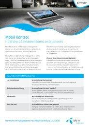 Læs mere om Mobil Kontrol (pdf) - Telenor