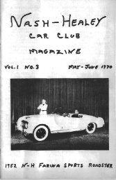 Nash Healey Car Club magazine Vol 1 No3 - Acme Fluid Handling
